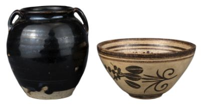 TWO CHINESE SONG / YUAN DYNASTY POTTERY ITEMS