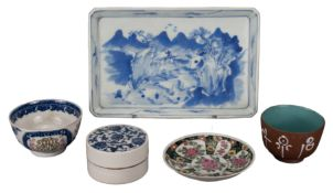 GROUP OF VARIOUS CHINESE PORCELAIN ITEMS, 18th/19th CENTURY