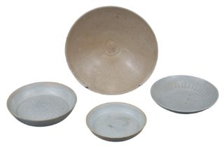 FOUR SONG AND YUAN DYNASTY BOWL AND DISHES