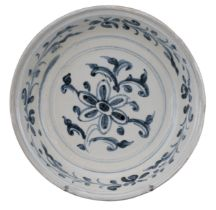 VIETNAMESE BLUE AND WHITE PORCELAIN DISH, 15/16th CENTURY