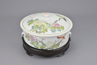 A CHINESE FAMILLE ROSE SOUP TUREEN