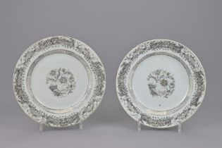 TWO CHINESE EXPORT PLATES