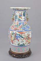 A 19TH CENTURY CHINESE CANTONESE PORCELAIN VASE