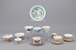 CHINESE PORCELAIN TEA CUPS AND SAUCERS
