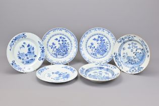SIX CHINESE BLUE AND WHITE PLATES