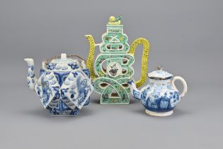 Two Vintage Chinese Porcelain Teapots