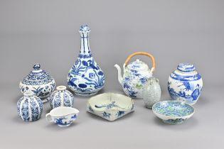 Ten Various Vintage Chinese Porcelain Items