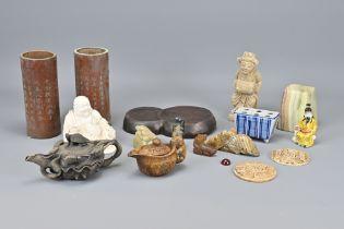 An Assortment of Sixteen Chinese Ornamental Items