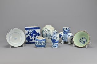 Seven Various Vintage Chinese Blue and White Porce