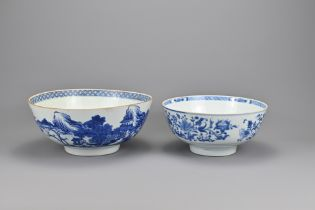 Two 18th Century Chinese Blue and White Porcelain