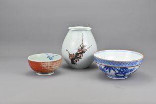 Three Vintage Japanese Porcelain Items