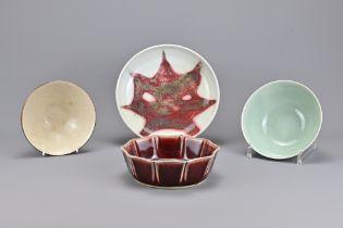 Four Vintage Oriental Monochrome Porcelain Bowls