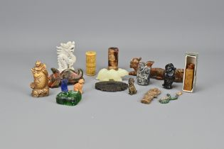 Fifteen Various Carved Stone Items