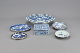 Six 18/19th Century Chinese Blue and White Porcela