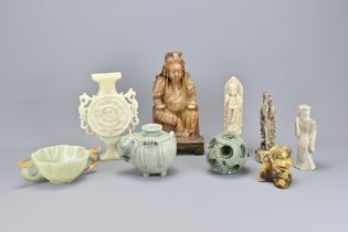 Nine Various Chinese Stone Carvings