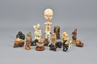 Twenty-Two Various Carved Stone items