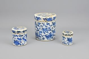 Three 19th Century Chinese Blue and White Porcelai
