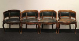 Lot of 4 notary armchairs