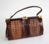 Croco handbag sixties
