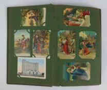 Album with various decorative cards