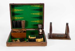 A lot with a backgammon game + wall console