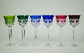 Val Saint Lambert crystal glasses