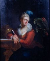 Lady with Parrot, 18thC