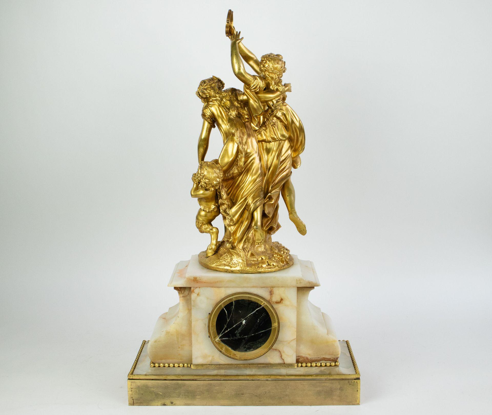 Ormulu clock with candelabra - Image 8 of 16