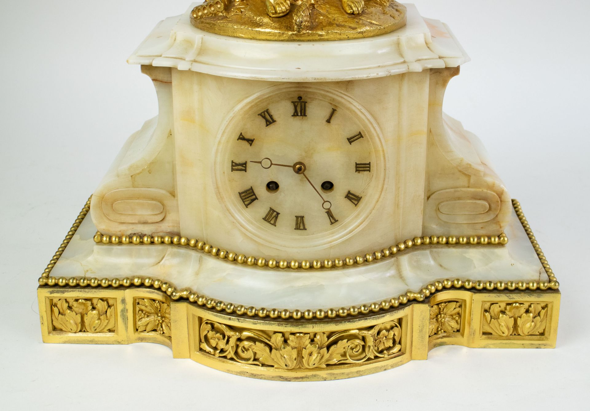 Ormulu clock with candelabra - Image 3 of 16