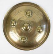 19thC bronze shield