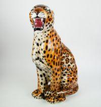 Italian Ceramic sculpture of a leopard