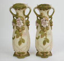 A pair of Royal Dux vases