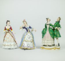 A collection of 3 porcelain figures