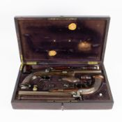 Liège dueling box in cashew wood