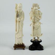 Chinese ivory figure of Shau Lau and Chou Ts'ang