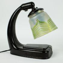 Art Deco bakelite table lamp with shade Loetz