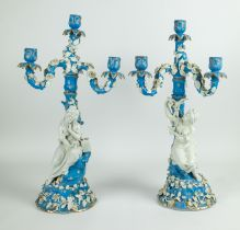2 porcelain candle sticks Italy