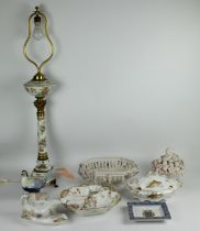 A collection of porcelain items