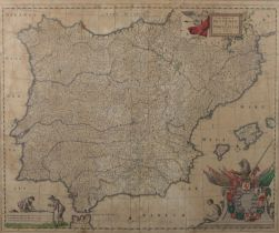 Chart Portugal and Spain Frederick De Wit