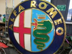 Large Alfa Romeo Light Up Sign