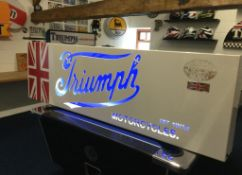 Triumph Motorcycles Illuminated Sign