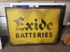 Exide Batteries Tin Sign