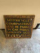 Sidecar Sign on Wood