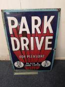 Park Drive Enamel Sign