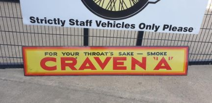 Large Craven A Tin Sign