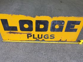 Original Lodge Spark Plug Enamel Sign