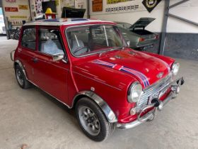 1990 Rover Mini Racing Flame Checkmate