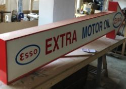 Esso Extra Motor Oil Double Sided Arrow