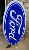 Ford Oval Illuminated Double Sided Sign