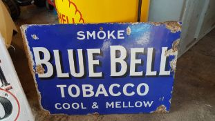 BLUE BELL TOBACCO DOUBLE SIDED SIGN
